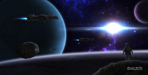 hd wallpaper space colony miners